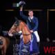 Die Weltcup Siegerehrung: Steve Guerdat (SUI) auf Victorio des Frotards (Bildquelle: «Longines CSI Basel/Katja Stuppia»).