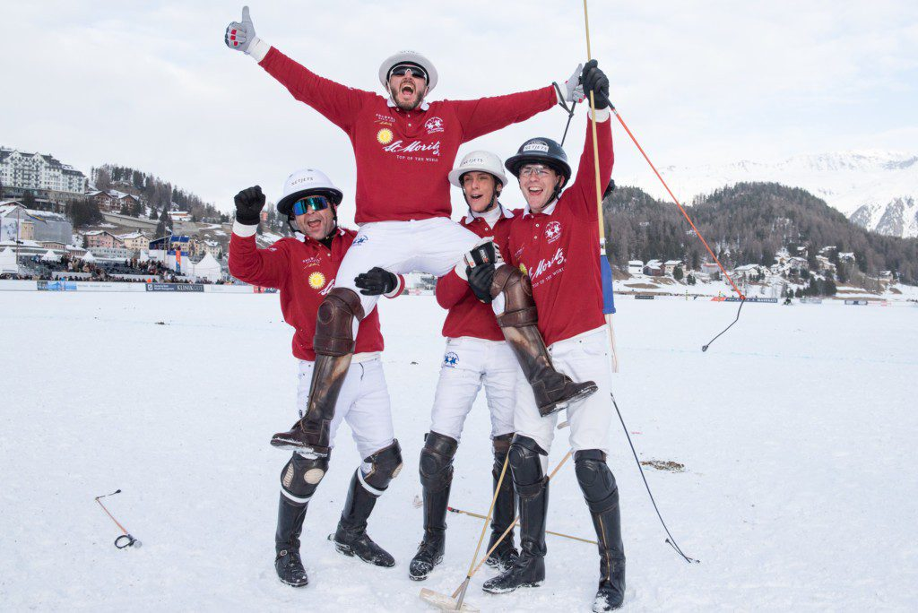 Das Team St. Moritz gewann den Snow Polo World Cup 2020.