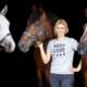 Annica Hansen mit ihren Pferden Cobie, Canto und Wölbchen