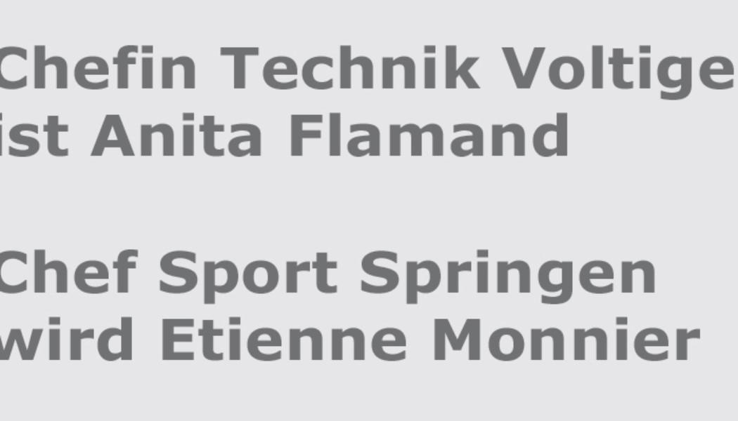 SVPS: Wahlen Chef Sport Springen und Chefin Technik Voltige