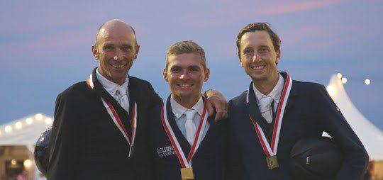 Bildlegende: Das Siegerpodest der SM 2020 v.l.n.r.: Niklaus Schurtenberger, Bryan Balsiger, Martin Fuchs (Bild: Angelika Nido)