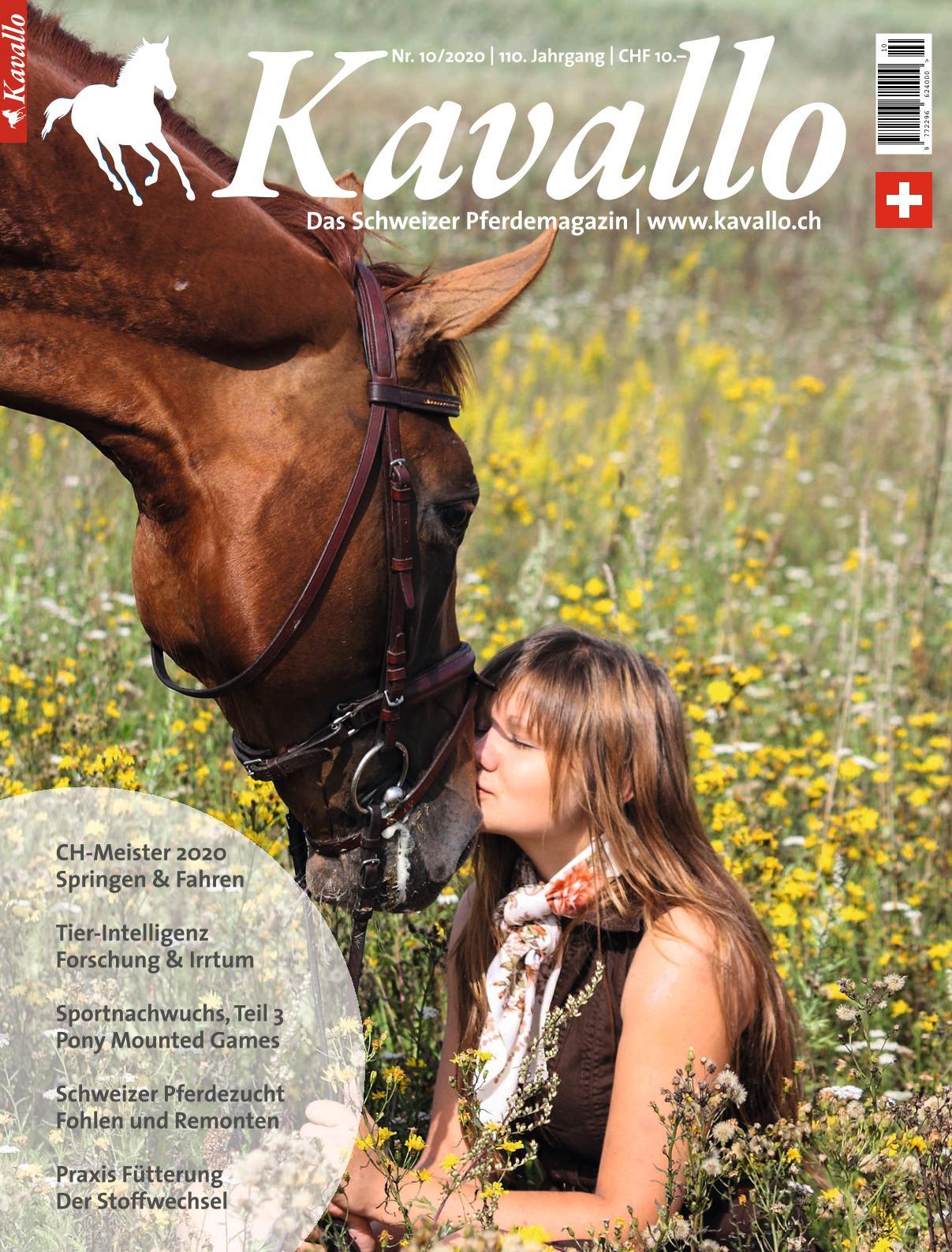 Kavallo-Ausgabe 10_2020 Reitsport, Pferdesport, Freizeitreiten, Pferdemädchen, Schweizer Pferdemagazin