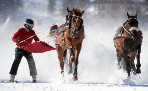 Rennimpression vom 'Credit Suisse - GP von Silvaplana', dem Skikjoering ueber 2700 Meter, am zweiten Renntag von White Turf St. Moritz am 9. Februar 2020 in St. Moritz. (swiss-image/AndyMettler)